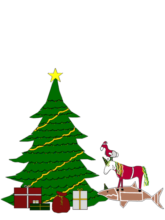 christmas tree with santa dodi
